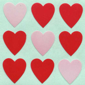 Pack of Paper Stickers - Red Hearts