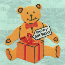 Load image into Gallery viewer, Pack of Paper Stickers - Birthday Bear