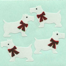 Load image into Gallery viewer, Pack of Paper Stickers - White Scottie Dogs