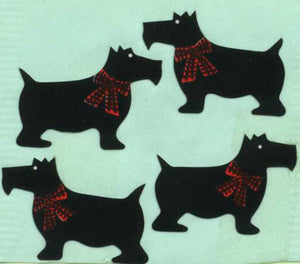Pack of Paper Stickers - Black Scotties