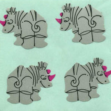 Load image into Gallery viewer, Pack of Paper Stickers - Rhinos