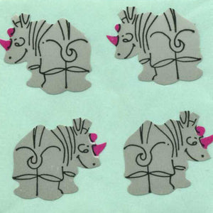 Pack of Paper Stickers - Rhinos