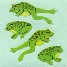Load image into Gallery viewer, Pack of Paper Stickers - Jumping Frogs