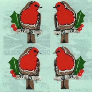 Pack of Paper Stickers - Robins