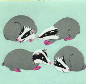 Pack of Paper Stickers - Badgers