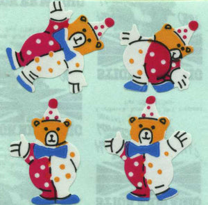 Pack of Paper Stickers - Teddy Clowns