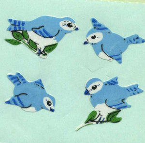 Pack of Paper Stickers - Blue Birds