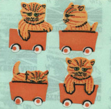Load image into Gallery viewer, Pack of Paper Stickers - Kittens In Train