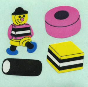 Pack of Paper Stickers - Liquorice Allsorts