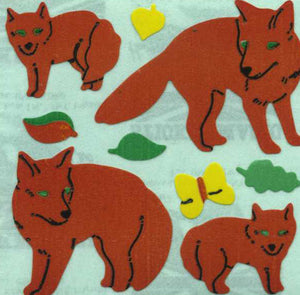 Pack of Paper Stickers - Foxes