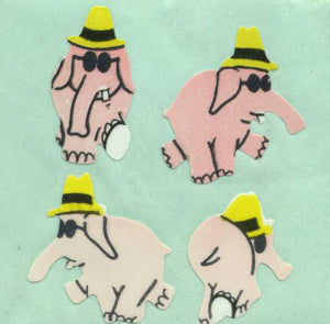 Pack of Paper Stickers - Party Elephants