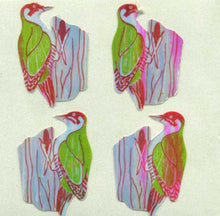 Load image into Gallery viewer, Pack of Pearlie Stickers - Woodpeckers