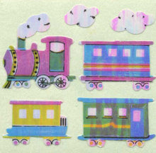 Load image into Gallery viewer, Pack of Pearlie Stickers - Steam Trains