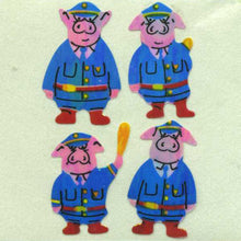 Load image into Gallery viewer, Pack of Pearlie Stickers - Piggie Police
