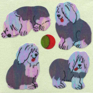 Pack of Pearlie Stickers - Sheepdog Puppies