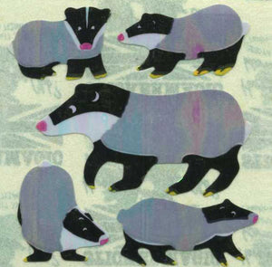 Pack of Pearlie Stickers - Badger Family