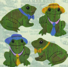 Load image into Gallery viewer, Pack of Pearlie Stickers - Frog Wearing Hat