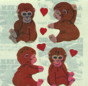 Pack of Pearlie Stickers - Love Chimps
