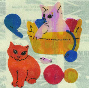 Pack of Pearlie Stickers - Kittens Playing