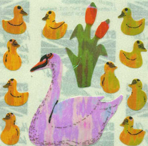 Pack of Pearlie Stickers - Swans And Cygnets