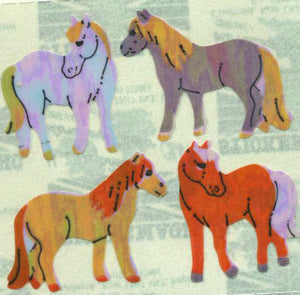 Pack of Pearlie Stickers - Dartmoor Ponies