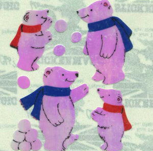Pack of Pearlie Stickers - Polar Bear
