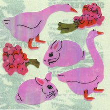 Load image into Gallery viewer, Pack of Pearlie Stickers - Geese & Bunny