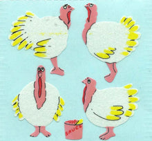 Load image into Gallery viewer, Pack of Paper Stickers - Turkeys