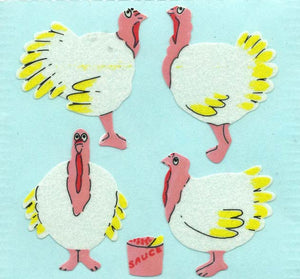 Pack of Paper Stickers - Turkeys