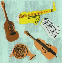 Load image into Gallery viewer, Pack of Paper Stickers - Musical Instruments