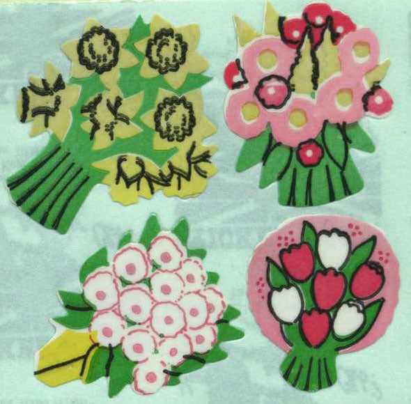 Pack of Paper Stickers - Floral Posies