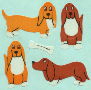 Pack of Paper Stickers - Basset Hounds