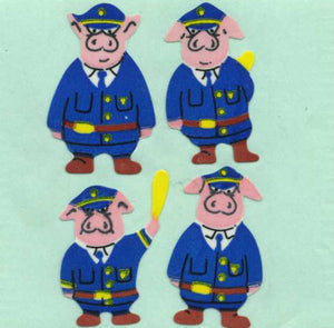 Pack of Paper Stickers - Piggie Police