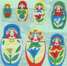 Load image into Gallery viewer, Pack of Paper Stickers - Russian Dolls