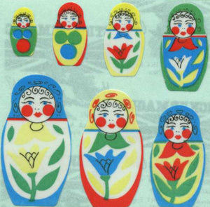 Pack of Paper Stickers - Russian Dolls