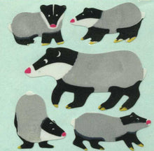 Load image into Gallery viewer, Pack of Paper Stickers - Badger Family
