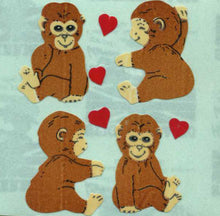 Load image into Gallery viewer, Pack of Paper Stickers - Love Chimps