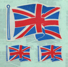 Load image into Gallery viewer, Pack of Paper Stickers - Union Jacks X 3