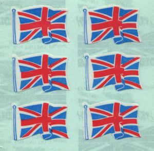 Pack of Paper Stickers - Union Jacks X 6
