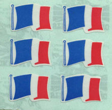 Load image into Gallery viewer, Pack of Paper Stickers - French Flags X 6