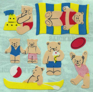 Pack of Paper Stickers - Micro Seaside Teds
