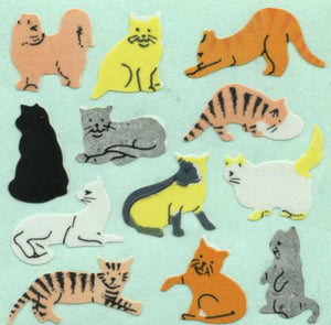 Pack of Paper Stickers - Micro Cats