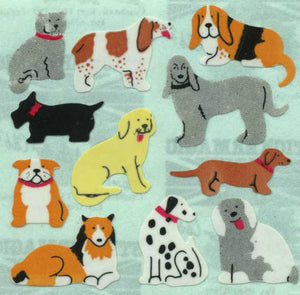 Pack of Paper Stickers - Micro Dogs