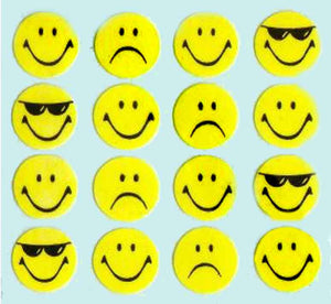 Pack of Paper Stickers - Smiley Expressions