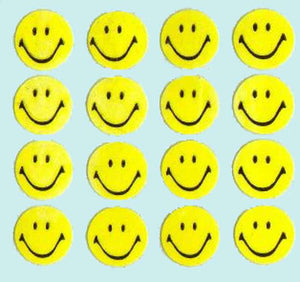 Pack of Paper Stickers - Smiley
