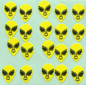 Pack of Paper Stickers - Aliens