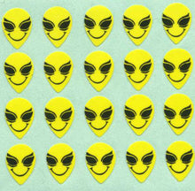 Load image into Gallery viewer, Pack of Paper Stickers - Smiley Alien
