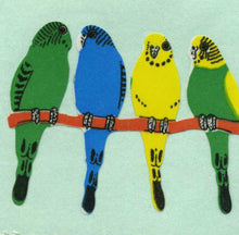 Load image into Gallery viewer, Pack of Paper Stickers - Budgies On Perch