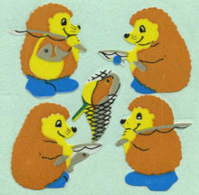 Load image into Gallery viewer, Pack of Paper Stickers - Fishing Hedgehogs