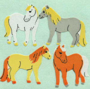 Pack of Paper Stickers - Dartmoor Ponies